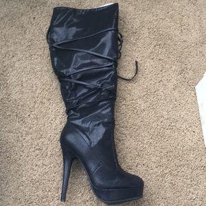 JustFab Jill heel boots sz 7.5